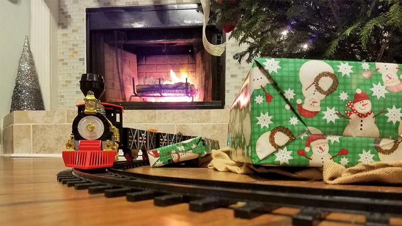 Chimenea navidad destacada