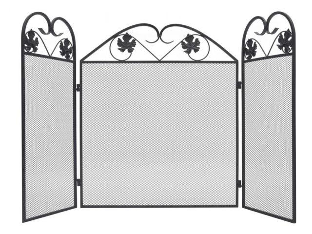 vidaXL salvachispa pantalla 3 paneles espalda