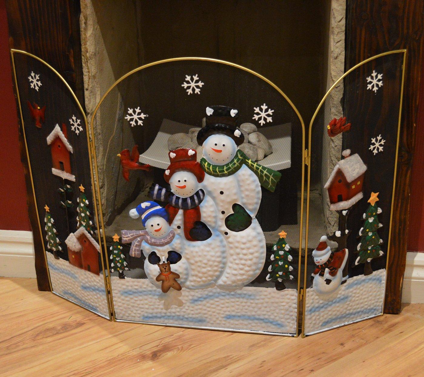 Salvachispas con decoración navideña